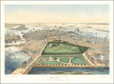 Boston Map By John Bachmann