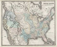 United States Map By George Philip & Son