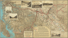 Alaska, Pictorial Maps and Canada Map By Canadian National Railway