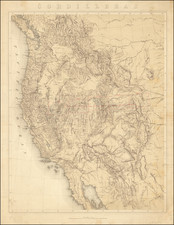 United States, Rocky Mountains, Pacific Northwest and California Map By Clarence   King / Julius Bien