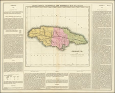 Jamaica Map By Henry Charles Carey  &  Isaac Lea