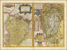 Northern Italy Map By Abraham Ortelius / Johannes Baptista Vrients