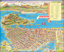 Pictorial Maps and British Columbia Map By Don Bloodgood