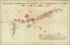 Washington Map By Hanford Irrigation & Power Company