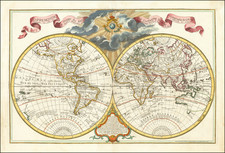 World Map By Guillaume De L'Isle
