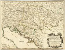 Austria, Hungary, Romania and Croatia & Slovenia Map By Nicolas Sanson