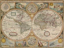 World, World, Curiosities and Celestial Maps Map By John Speed