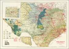 Texas and Geological Map By F.E. Gallup