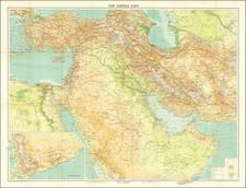 Middle East, Arabian Peninsula and Persia & Iraq Map By John Bartholomew