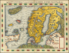 Baltic Countries, Scandinavia and Iceland Map By Sebastian Munster