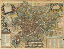 Rome Map By Johannes Covens  &  Cornelis Mortier