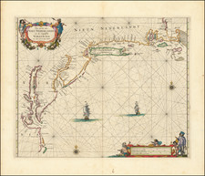 New England, New York State, Mid-Atlantic and Southeast Map By Pieter Goos