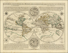 World Map By Pierre Du Val / Alexis-Hubert Jaillot