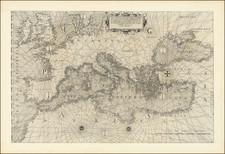 Europe and Mediterranean Map By Antonio Lafreri