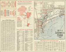 Los Angeles Map By The Clason Map Company