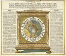 Northern Hemisphere, Polar Maps, California as an Island, Celestial Maps and Curiosities Map By Johann Baptist Homann