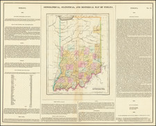 Indiana Map By Henry Charles Carey  &  Isaac Lea