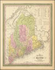 Maine Map By Thomas, Cowperthwait & Co.