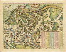 Rome Map By Henri Chatelain