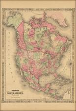 Johnson's North America By Alvin Jewett Johnson  &  Benjamin P Ward