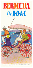 Bermuda and Travel Posters Map By British Overseas Airways Corporation