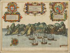 Atlantic Ocean, West Africa and African Islands, including Madagascar Map By John Wolfe / Jan Huygen van  Linschoten