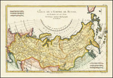 Russia and Russia in Asia Map By Rigobert Bonne