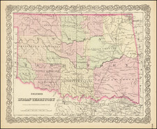 Oklahoma & Indian Territory Map By G.W.  & C.B. Colton