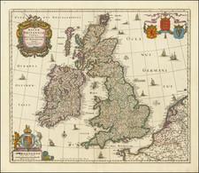 British Isles, Scotland and Ireland Map By Nicolaes Visscher II
