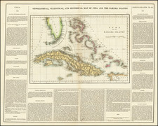 Cuba and Bahamas Map By Henry Charles Carey  &  Isaac Lea