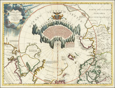 Polar Maps, Canada and Eastern Canada Map By Vincenzo Maria Coronelli