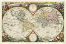 Orbis Terrarum Tabula Recens Emendata et in Lucem Edita Per N. Visscher By Nicolaes Visscher I
