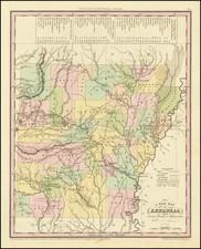 Arkansas Map By Henry Schenk Tanner