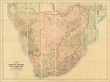 South Africa Map By J.C. Juta / Edward Stanford