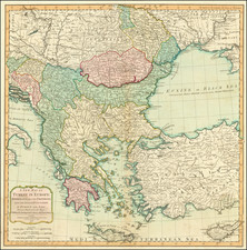 Romania, Turkey, Turkey & Asia Minor and Greece Map By Laurie & Whittle