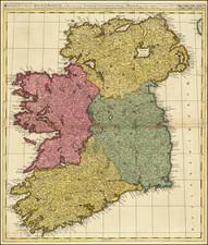 Ireland Map By Gerard & Leonard Valk