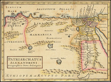 Middle East and Egypt Map By Pieter van der Aa