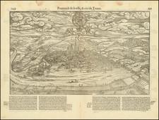 German Cities Map By Francois De Belleforest