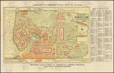 Missouri Map By Woodward & Tiernan Printing Company