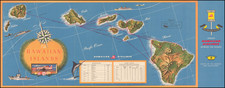 Hawaii, Hawaii and Pictorial Maps Map By Ewart Melbourne Brindle