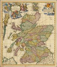 Scotland Map By Nicolaes Visscher I