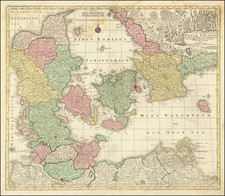 Sweden and Denmark Map By Tobias Conrad Lotter