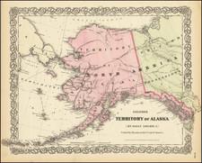Alaska Map By G.W.  & C.B. Colton