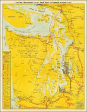 Washington Map By J. H. Ginet