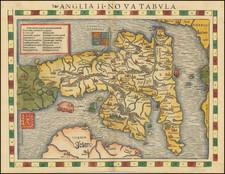 British Isles and England Map By Sebastian Munster