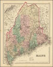 Maine Map By O.W. Gray