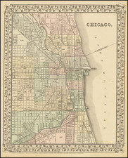 Illinois and Chicago Map By Samuel Augustus Mitchell Jr.