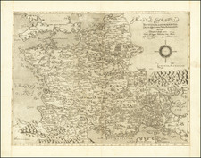 Netherlands, Belgium, France and Northern Italy Map By Oronce Fine / Domenico Zenoi