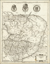 Netherlands and Belgium Map By Hieronymus Olgiatus