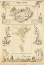 Iceland and Denmark Map By Archibald Fullarton & Co.